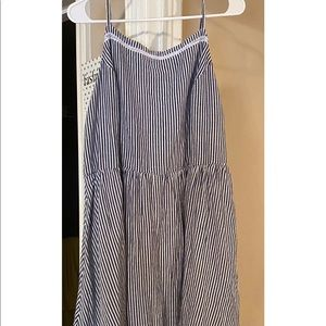 Navy blue and white stripped sundress